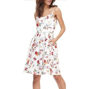 NWT Gal Meets Glam Floral Linen Fit & Flare Dress